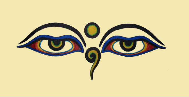 "Eyes of Bodhnath - ""Buddha's Eyes"" - Buddhist Eyes - Public Domain ..."
